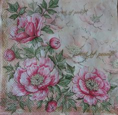 Check out this item in my Etsy shop https://www.etsy.com/listing/399568381/floral-napkins-for-decoupage-peony-motif