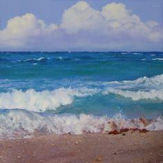 Surf, painting by artist Oriana Kacicek