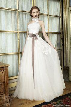 inmaculada garcia #wedding dresses 2014 sira #bridal gown feathers #weddingdress #weddings #weddingdresses More at http://weddinginspirasi.com/2013/10/18/inmaculada-garcia-2014-wedding-dresses-savanna-tales-bridal-collection/