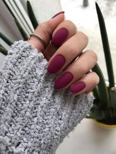 36 Perfect and Outstanding Nail Designs for Winter dark color nails; nude and sparkle nails; The post 36 Perfect and Outstanding Nail Designs for Winter dark color nails; Gel n& appeared first on Nails. Dark Color Nails, Gray Nails, Burgundy Nails, Matte Gel Nails, Dark Nude Nails, Burgundy Color, Burgundy Nail Designs, Dark Nail Designs, Acrylic Nails Maroon