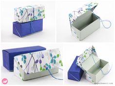 Origami Hinged Box Tutorial - Medium Size - Paper Kawaii