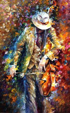 MISTY MUSICIAN - Oil Painting On Canvas by Leonidafremov on @DeviantArt