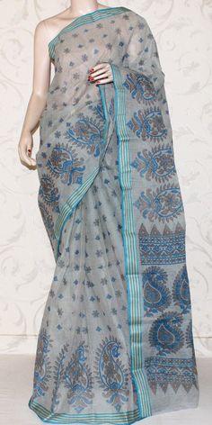 Bengal Handloom Tant Saree (Block Printed) 13186 Kota Silk Saree, Jamdani Saree, Indian Silk Sarees, Indian Sarees Online, Soft Silk Sarees, Cotton Saree Designs, Saree Blouse Neck Designs, Indian Dresses, Indian Outfits