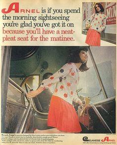 Celanese Arnel Fabric Vintage Advertisement.