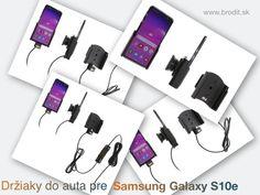 Nové držiaky do auta pre Samsung Galaxy S10e. Pasívny držiak Brodit pre pevnú montáž v aute, aktívny s CL nabíjačkou, s USB alebo s Molex konektorom. Apple Iphone, Samsung Galaxy, Polaroid Film