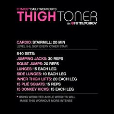 #FitMiss #ThighToner #Workout - Thigh toner workout from FitMiss.