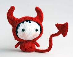 Ravelry: Red Devil Doll. Toy from the Tanoshi series. by Tatyana Korobkova