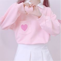 New fashion sweet and lovely love sweater sold by Harajuku fashion. Shop more products from Harajuku fashion on Storenvy, the home of independent small businesses all over the world. Harajuku Fashion, Kawaii Fashion, Cute Fashion, New Fashion, Fashion Outfits, Pastel Outfit, Pink Outfits, Cute Casual Outfits, Pretty Outfits