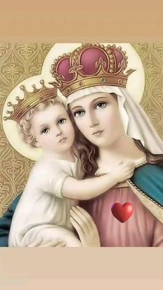 Mother Mary Pictures, Jesus And Mary Pictures, Images Of Mary, Mary And Jesus, Jesus Mother, Blessed Mother Mary, Blessed Virgin Mary, Religious Images, Religious Art
