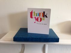 A wonderful card and tasty box of chocolates from 2 of the owners we recently worked with.