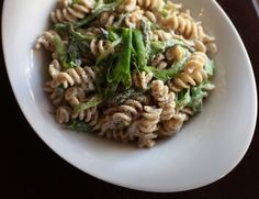 Shaved Asparagus & Boursin pasta... looks delish and amazingly simple
