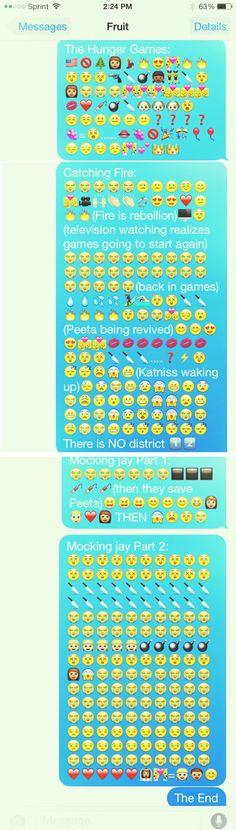 The Hinger Games series in Emojis!