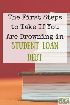 With the costs of going to college rising every year, more college graduates are leaving school with thousands of dollars in student loan debt. Here are the first steps you need to take if you& drowning in student loans. Paying Off Student Loans, Student Loan Debt, School Loans, Best Payday Loans, Leaving School, Total Money Makeover, Good Paying Jobs, Loan Consolidation, Loan Company