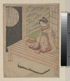 Suzuki Harunobu: A Young Woman Seated upon the Engawa of a House - Metropolitan Museum of Art