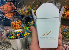 Google's Daniel Waisberg posted a picture of some of the swag at the Google Analytics Summit 2014.  This one is a Chinese food container, also known as a oyster pail, with the Google Analytics logo on
