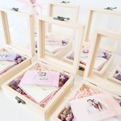 | D r e a m y B o x | Do you girls like these cutie little wooden boxes for my kind & gentle bride Kaman 👰🏻? ❤️ They consist of a… Bridal Shower Tables, Bridesmaid Proposal Box, Your Girl, Wooden Boxes, Decoration, Bespoke, Decorative Boxes, Anna, Stationery