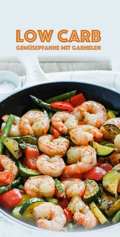 Low Carb Vegetable Pan with Prawns - Healthy Recipes.me - - Low Carb gemüsepfanne mit garnelen – GesundeRezepte.me Low Carb Vegetable Pan with Shrimp – GesundeRezepte. Healthy Recipes, Low Carb Recipes, Diet Recipes, Smoothie Recipes, Atkins Recipes, Cooking Recipes, Diet Meals, Smoothie Diet, Diet Foods