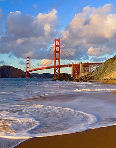Baker Beach - view of the golden gate --- Baker Beach San Francisco, San Francisco Travel, San Francisco California, Great Places, Places To See, Beautiful Places, San Francisco Photography, Destinations, California Travel