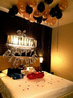 Awesome Room Decoration For Birthday Surprise Birthday Hotel Room Decoration Setup Everything Else On Carousell throughout Awesome Room Decoration For Birthday Surprise Birthday Room Surprise, Hotel Birthday Parties, 40th Birthday Balloons, Birthday Surprise Boyfriend, Birthday Gifts For Best Friend, 20th Birthday, Birthday Ideas, Hotel Room Decoration, Romantic Room Decoration