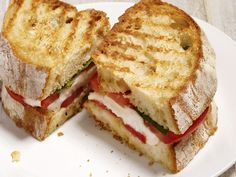50 Panini : Recipes and Cooking : Food Network - FoodNetwork.com. [A lot of these sound amazing!!!!]