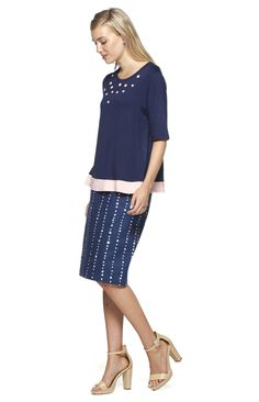 Rise and Shine Reversible Skirt in Blue