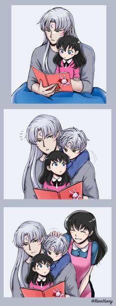 Explore the Kagome and Sesshomaru collection - the favourite images chosen by iluvampires on DeviantArt. Amor Inuyasha, Inuyasha Funny, Inuyasha Fan Art, Inuyasha Love, Anime Couples Manga, Cute Anime Couples, Manga Anime, Inuyasha And Sesshomaru, Kagome Higurashi