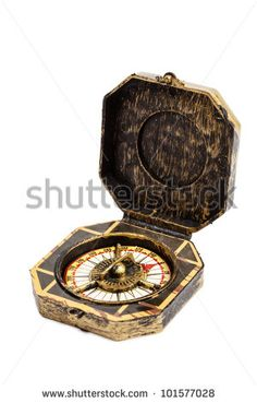 Old vintage pirate compass