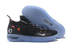 cheap for discount 409e5 fa6ba 2018 Off-White x Nike KD 11 Black White-Orange Men s Basketball Shoes