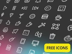 Helium is a free icon set with more than 100 useful app icons. The set comes with AI, EPS and SVG files and a ready-to-use icon font. Designed by Taras Shypka.