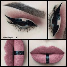 @depechegurl using our Vinyl Liquid Liner to turn her soft rose look into a fierce masterpiece.