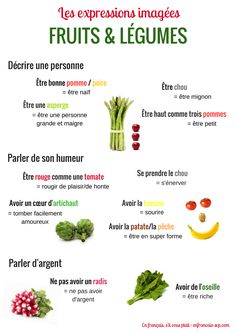 Expressions françaises avec des fruits et légumes