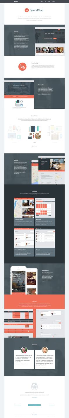 We have put together a case study for the SpareChair site we have recently beta launched an our site here: http://octopuscreative.com/work/14-sparechair  You can also view the live site here: https://sparechair.me/