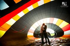 Engagement session with a hot air balloon!  http://www.timmesterphoto.com/blog/deanna-dans-engagement-session-with-wine-and-a-hot-air-balloon/