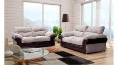 Brogan Fabric Mixed Sofa Set 3+2