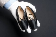 Tiny steps: silk shoes worn by the infant Princess Alice, circa 1843 © Museum of London