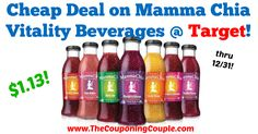 Great price! Has anyone tried this beverage before? Cheap Deal on Mamma Chia Vitality Beverages @ Target!  Click the link below to get all of the details ► http://www.thecouponingcouple.com/cheap-deal-on-mamma-chia-vitality-beverages-target/ #Coupons #Couponing #CouponCommunity  Visit us at http://www.thecouponingcouple.com for more great posts!