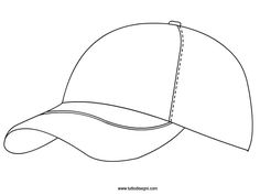Cappello con visiera da colorare - TuttoDisegni.com Easy Craft Projects, School Projects, Sports Quilts, Ballerina Cakes, Mandala Coloring Pages, Homer Simpson, Paper Crafts, Drawings, Fun
