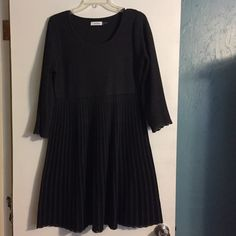 Calvin Klein dress Only worn once! Perfect for New Years! Quarter sleeves. Pattern of top and bottom shown in fourth picture. Make me an offer! Calvin Klein Dresses