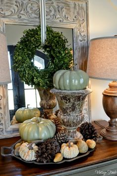 Vintage Finds: Fall Front Porch and Foyer