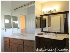 Bathroom Mirror Makeover bathroom makeover progress & mirror review | bathroom mirrors, kid