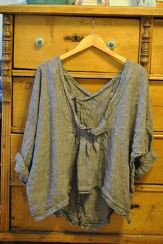 Linen tunic low vneck by mljcreates on Etsy, $88.00