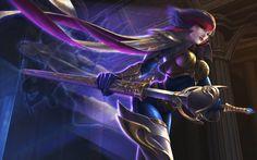 Computerspiel League Of Legends  Fiora Wallpaper