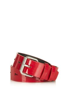 **Patent Hole Punch Belt - The Collection Starring Kate Bosworth - Clothing - Topshop