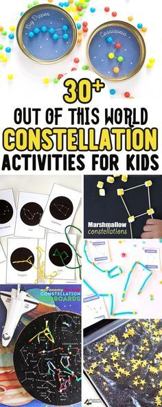 Explore space, stars and the night sky with your kids with 30+ hands on, learning through play constellation activities for kids of all ages. From fine motor activities for preschool, sensory play activities for toddlers to more in-depth studies of stars for kindergarten students and up via @playgroundpb