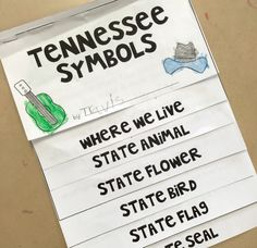Tennessee symbol flip book!