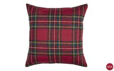 Royal Stuart Red Tartan Cushion at Laura Ashley