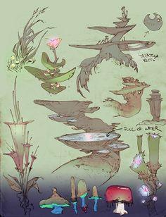 Paul Richards Character Design, Game Art, Drawings, Fantasy Art, Illustration Art, Environment Design, Plant Drawing, Art, Creature Design