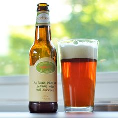 Dogfish Head Aprihop IPA.  Crisp apricot beer sounds perfect for a hot summer day.
