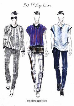 3.1 Phillip Lim Spring 2015. Fashion Illustration by Doryanna Popa.