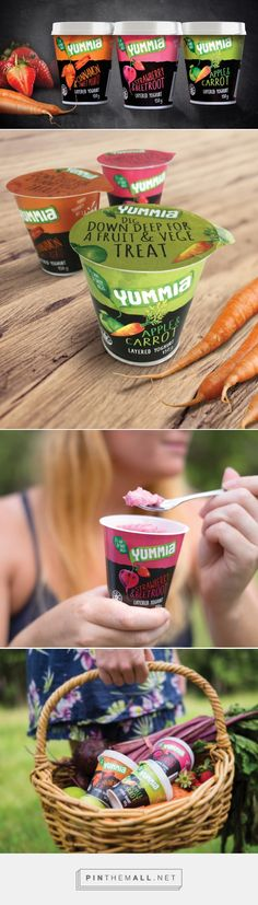 Yummia Fruit and Vegetable Yoghurts — The Dieline - Branding & Packaging - created via http://pinthemall.net